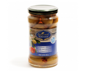 Azeitonas Verdes Recheadas com Tomate Seco Gourmet Mediterranean 165g