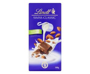 Chocolate ao Leite com Amêndoa Lindt Swiss Classic (100g)
