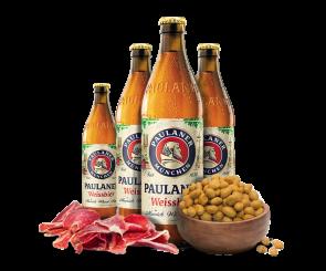 Combo Cerveja Paulaner Weissbier, Presunto e Amendoim