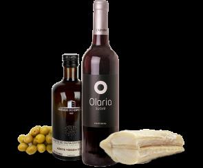Combo Vinho Tinto, Bacalhau Filé e Azeite