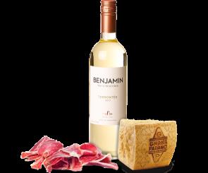 Combo Vinho Branco, Presunto e Queijo