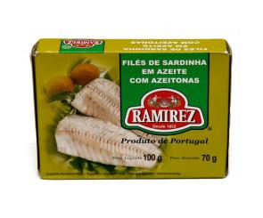 Filés de Sardinha em Azeite com Azeitonas Ramirez 100g