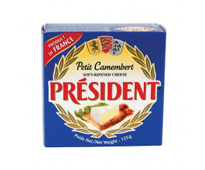 Queijo Petit Camembert President 125g