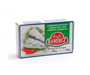 Sardinhas Em Óleo Comestível com Pimenta Vermelha Ramirez 125g
